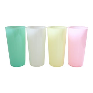 Vintage Plastic Cups - Set of 4