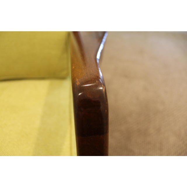Mid-Century Danish Modern 'Citron' Walnut Open Arm Lounge Chair - Image 9 of 11