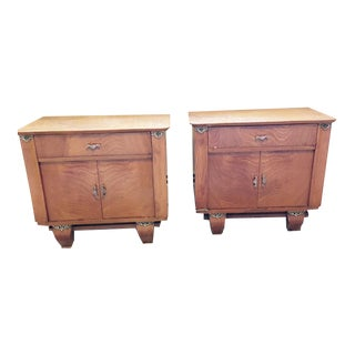 French Heirloom Indian Rosewood Nightstands - A Pair