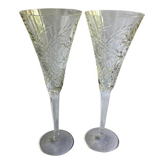 Waterford Champagne Flutes - A Pair