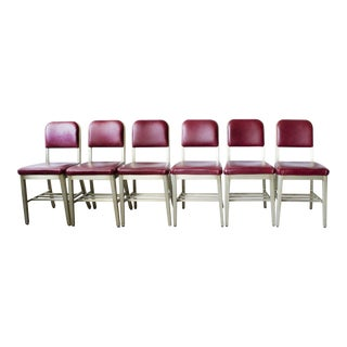 Refinished GoodForm Aluminum Side Chairs - Set of 6
