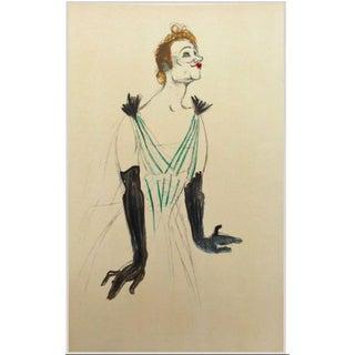 Framed Toulouse Lautrec Yvette Gilbert Lithograph