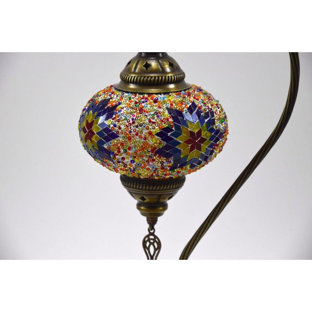 Turkish Handmade Mosaic Lamp - Image 4 of 7