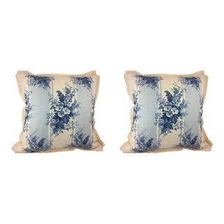 "Ralph Lauren ""Mapleton"" Floral in Soft Blue Pillows - a Pair"