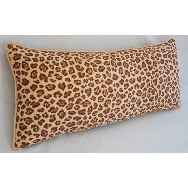Leopard Velvet Lumbar Body Pillow - Image 4 of 8