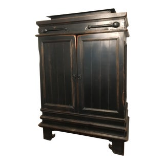 Espresso Wood With Iron Details Moroccan Chest