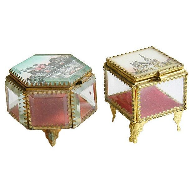 Antique French Souvenir Boxes - A Pair - Image 8 of 8