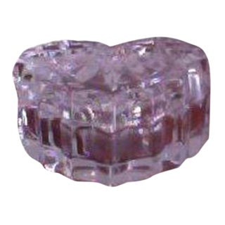 Heart Shaped Cut Crystal Box W/ Matching Lid