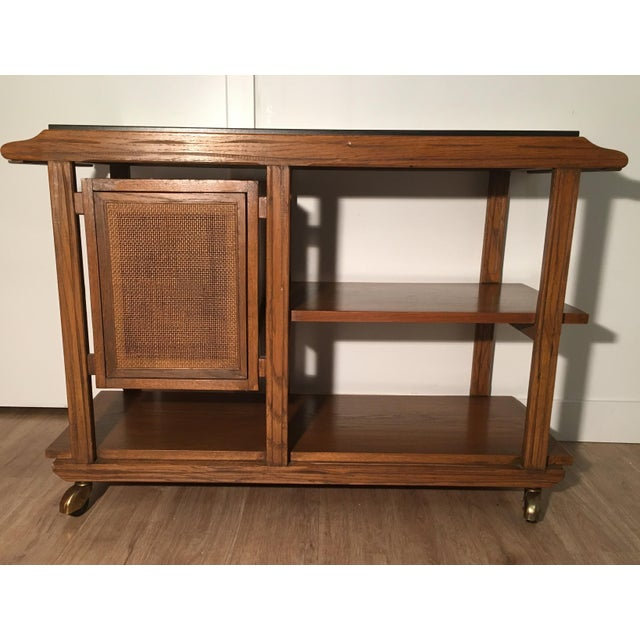 Mid-Century A. Brandt Ranch Oak Serving Cart - Image 2 of 10