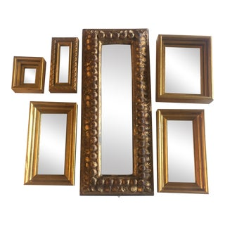 Mid-Century Gilt Wood Mirrors - Set of 6