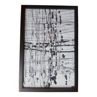 Black & Gray Splatter Art