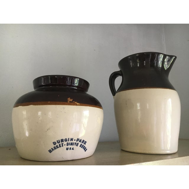 Vintage Stoneware Crocks - A Pair - Image 2 of 6