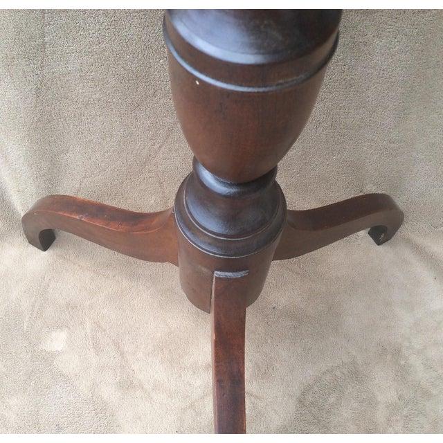 American Mahogany Tilt Top Table - Image 8 of 10