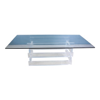 1970s Stacked Lucite Coffee Table