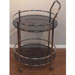 Image of Vintage Milo Baughman Style Round Bar Cart