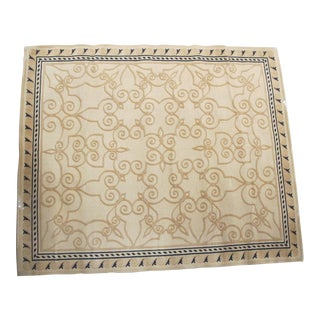 Wool Heirloom Style Rug - 9′ × 11′