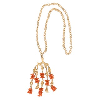 Crown Trifari Faux-Coral Necklace