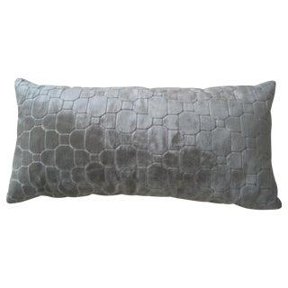 Kravet Beige Mosaic Lumbar Pillow