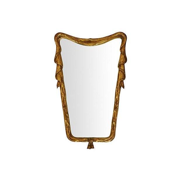 Italian Draper-Style Swag Mirror - Image 2 of 3