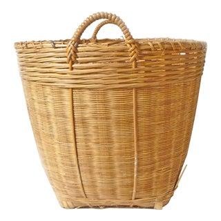Large Vintage Wicker Bushel Basket