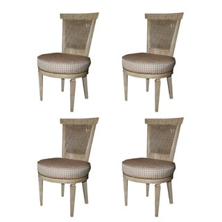 White Cane Back Chairs by Jansen - Set of 4