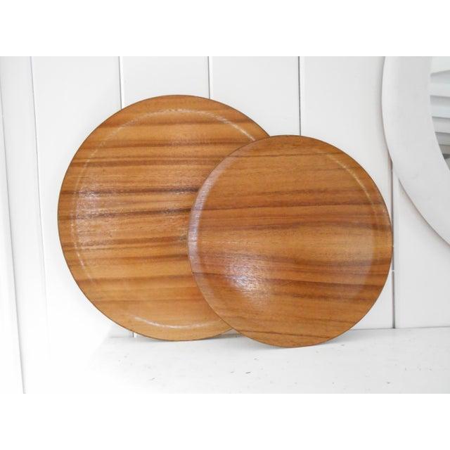 Koa Wood Trays - A Pair - Image 3 of 7