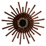 Image of Mid-Century Brutalist Starburst Mirror