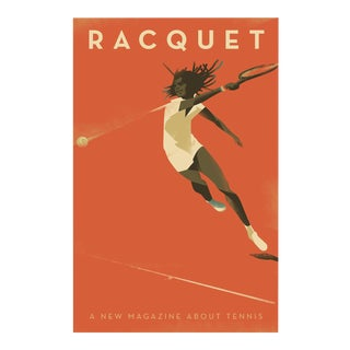 Contemporary Mads Berg Tennis Poster, Racquet