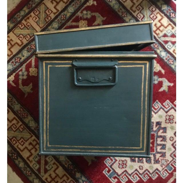 Large English Metal Strong Box - Image 4 of 11