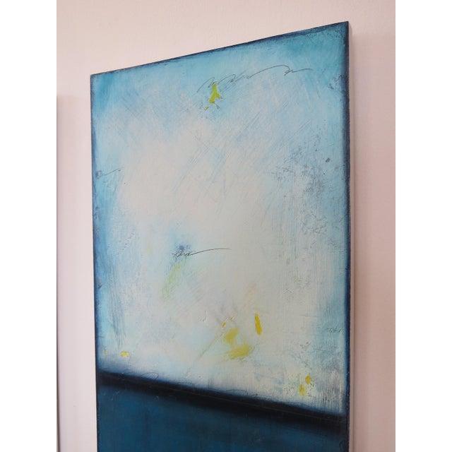 Blue Velvet Sunrise, I & II. Mixed Media Oil on Panel - Pair - Image 8 of 11