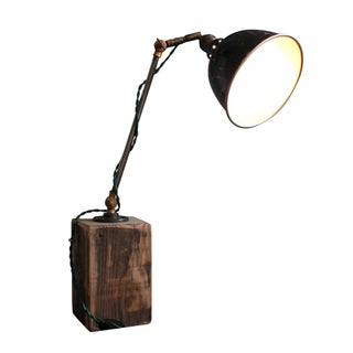 Hinged Industrial Desk Lamp