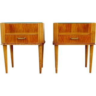 Swedish Art Moderne End Tables Axel Larsson - Pair
