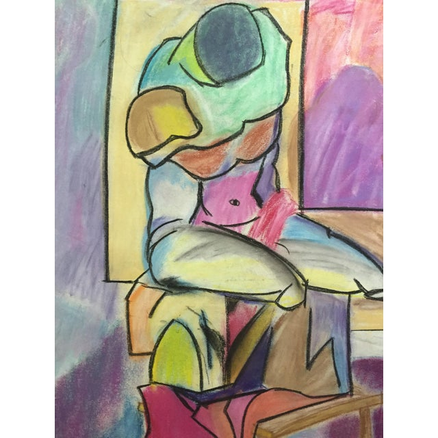 Henry Woon 1950s Pastel Male Figurative Drawing - Image 2 of 7