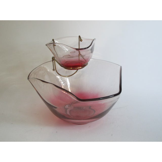 Cranberry Red Chip & Dip Bowl - Image 2 of 8