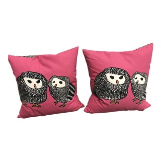 Contemporary Animal Drawing Pillows - A Pair