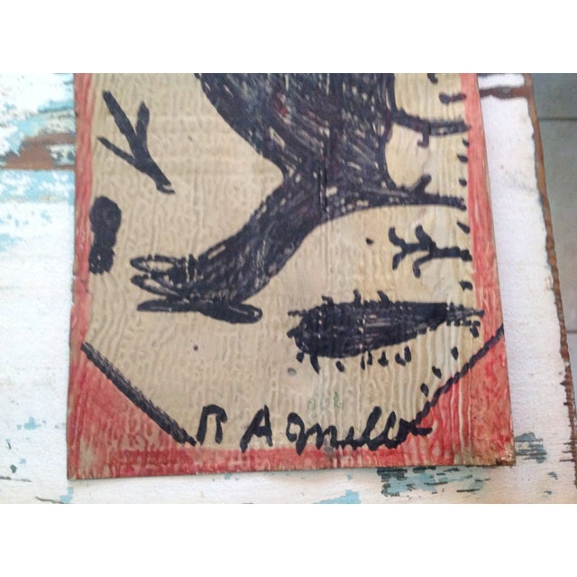 Vintage Folk Art Primitive Native Painting - Image 9 of 9