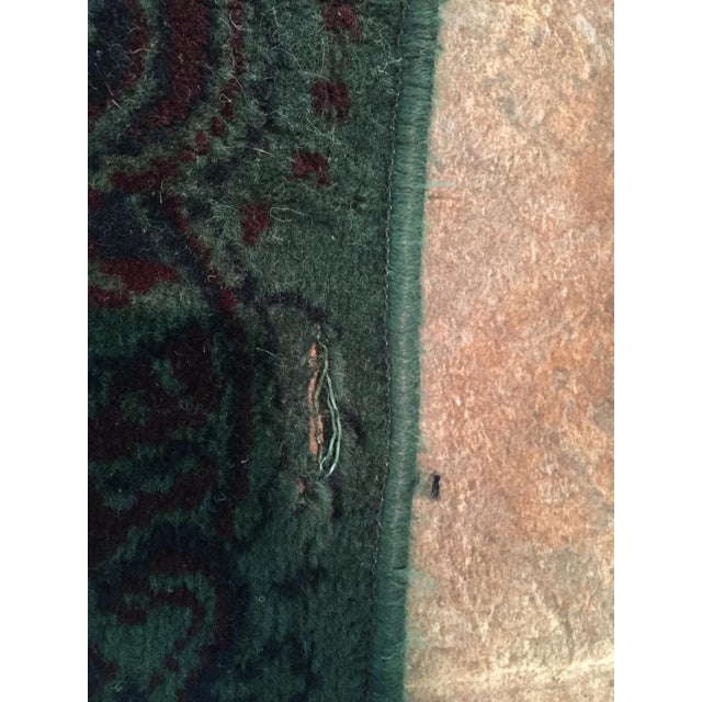 Vintage Over Dyed Distressed Green Wool Rug - 3 x 5 - Image 5 of 7