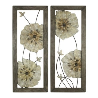 Marla Flower Wall Decor - A Pair