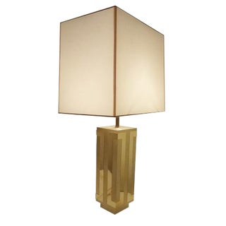 Philippe Jean Single Mid Century Table Lamp in Brass