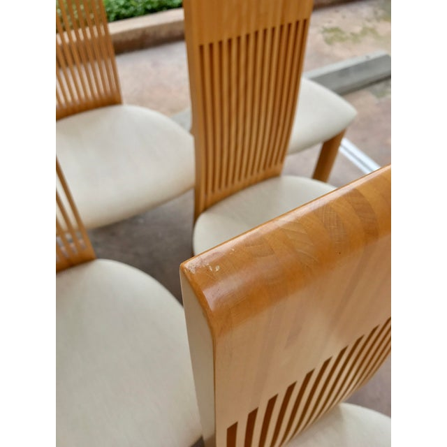 Costantini Maple Slatted Dining Chairs - Set of 6 - Image 9 of 10