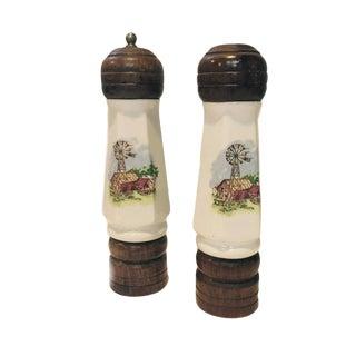 Ceramic Salt & Pepper Shakers - A Pair
