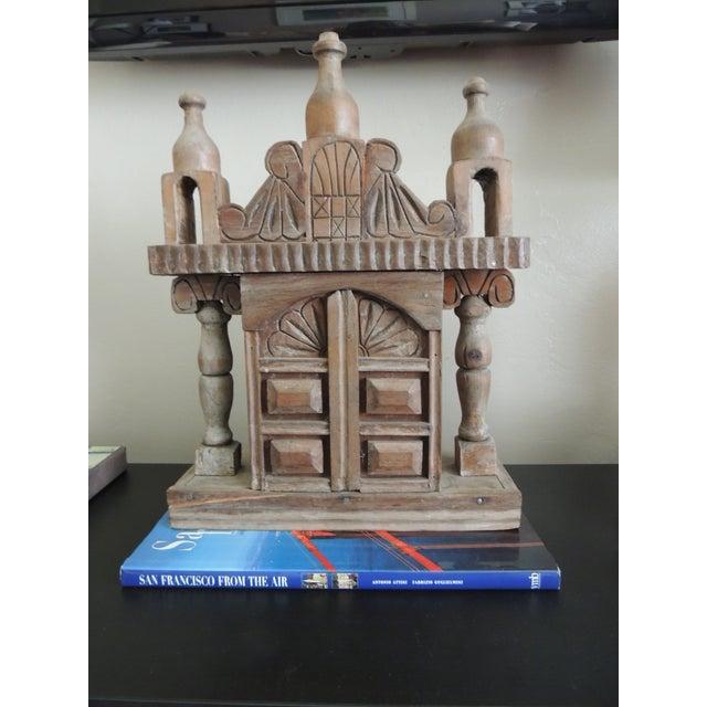Vintage Wood Indian Hand-Carved Shrine - Image 2 of 5