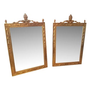Vintage Gold Mirrors - A Pair
