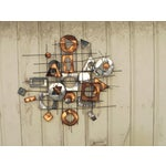 Image of 1960s C. Jere Metal Wall Sculpture