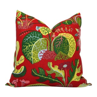 Schumacher Exotic Butterfly in Red Decorative Pillow Cover - 20x20