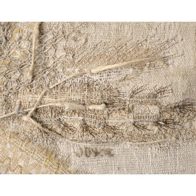 Modernist Abstract Fiber Art Wall Hanging - Image 7 of 8
