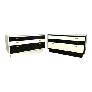 Harvey Probber Black & White Chests - A Pair