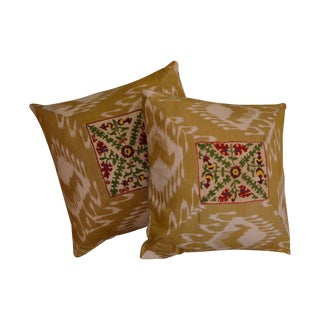 Ikat Suzani Pillowcases - A Pair