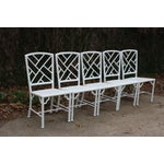 Image of Meadowcraft Faux Bamboo Dining Set