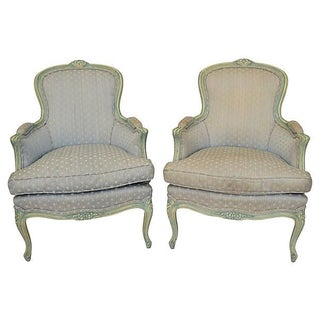French Louis XV-Style Bergères - A Pair
